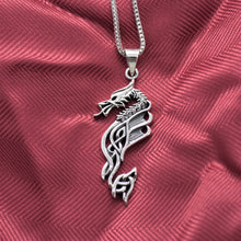 Tribal Dragon Pendant Necklace