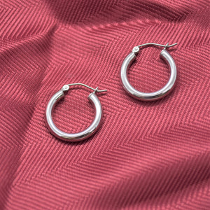 silver hoop earrings sutton smithworks