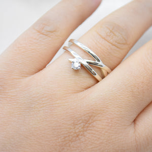 .10CT Lab Diamond Criss Cross Ring
