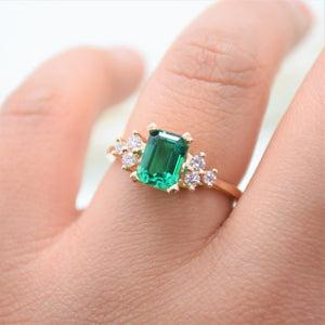 emerald engagement ring - sutton smithworks
