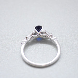 Chatham Blue Sapphire Ring