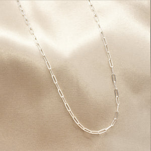 "1.95 mm Silver Paperclip Link 20"" Chain"