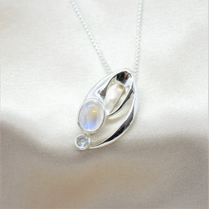moonstone abstract necklace