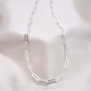 4mm sterling silver paperclip chain