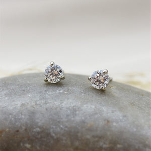 lab diamond martini stud earrings