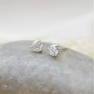 .50TW Lab Diamond Earrings White Gold