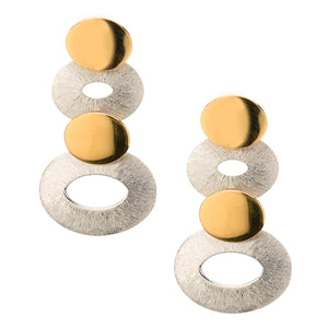 Two-Tone Oval Stack Earrings