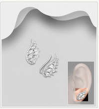 CZ Wings Ear Climbers