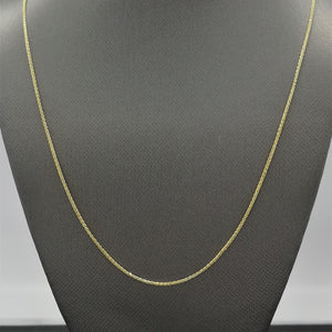 "20"" Foxtail Chain Necklace in 10K Yellow Gold"