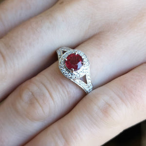 engagement ring ruby