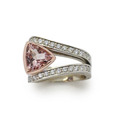 Morganite and Diamond Gold Ring