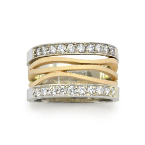 Two Tone Gold Diamond Ring