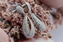 CZ Pear Drop Earrings