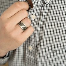 art deco design ring mens