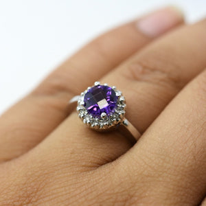 amethyst two tone ring - sutton smithworks