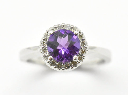 amethyst white gold ring - sutton smithworks