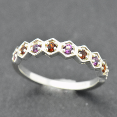 Geometric Half-Eternity Ring (Custom Order)