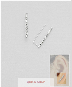 CZ Bar Ear Climbers