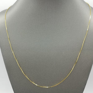 "18"" Box Chain Necklace in 10K Yellow Gold"