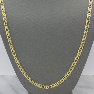 "22"" Anchor Chain Necklace in 10K Yellow Gold"