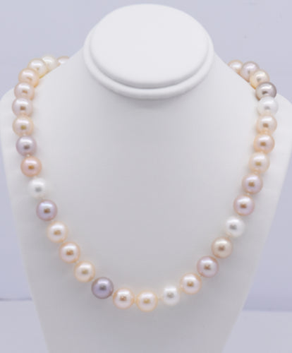 Neutral Multi-Coloured Large Freshwater Pearl Necklace