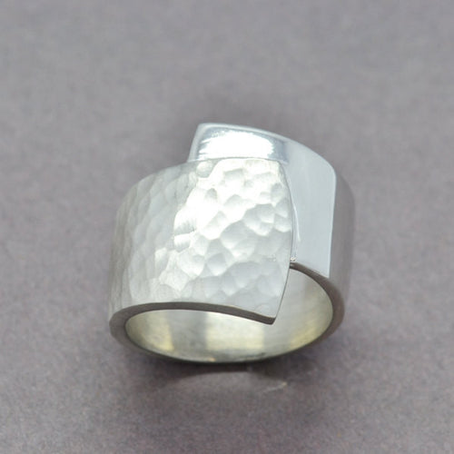 wrap statement silver ring