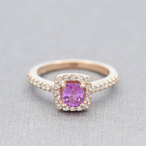 rose gold sapphire ring - sutton smithworks