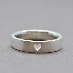 missing heart silver ring