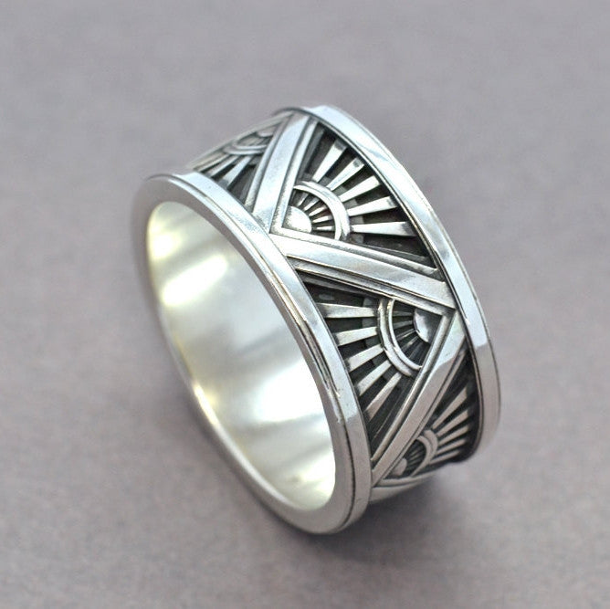 mens art deco ring