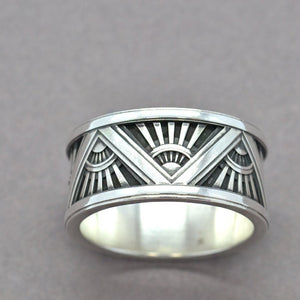 custom art deco ring