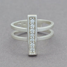 Sterling Silver Bar Ring