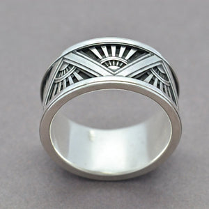 art deco ring mens