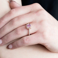 rose gold sapphire engagement ring - sutton smithworks