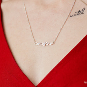 "Sterling Silver ""Imagine"" Necklace"