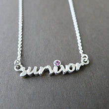 "Sterling Silver ""Survivor"" Necklace"