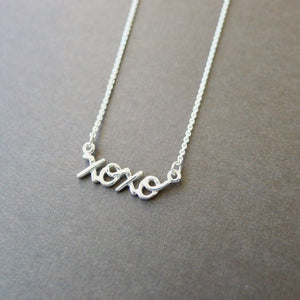 Sterling Silver XOXO Necklace
