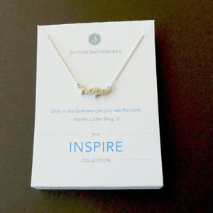 "Sterling Silver ""Hope"" Necklace"
