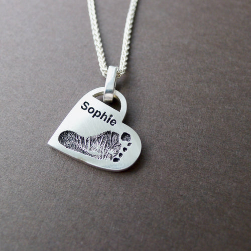 Footprint Handprint Necklace