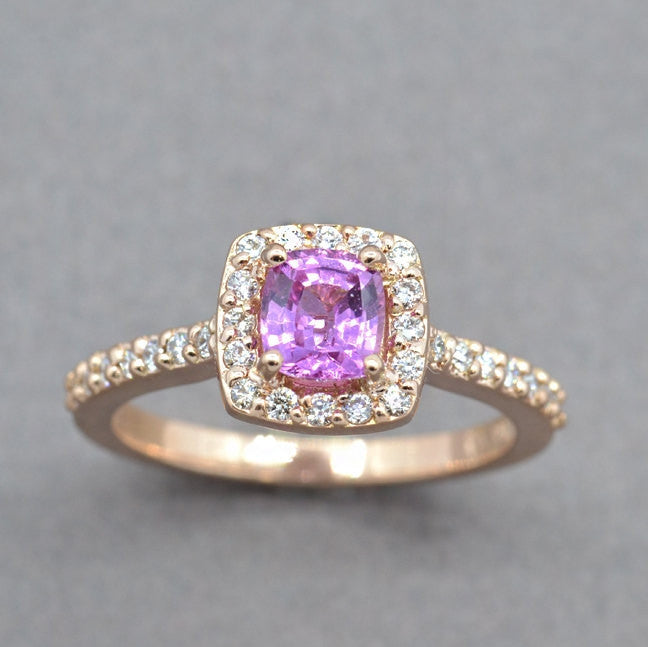 pink sapphire engagement ring - sutton smithworks