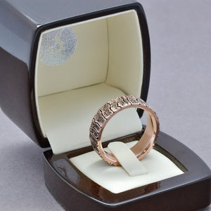 bark tree wedding band for mens