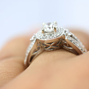 two stones diamond engagement ring