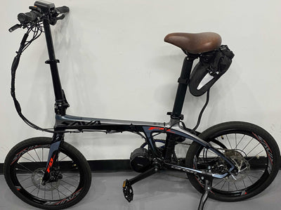 Sava Carbon Fiber Folding Bike - Black