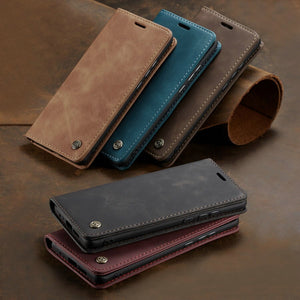 Leather Flip Stand Case for Samsung Phones