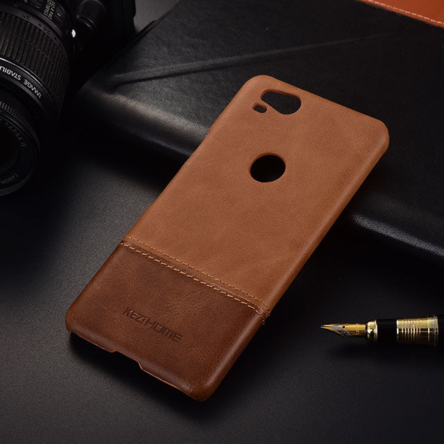 the latest 45a02 03778 Genuine Stitched Leather Case for Google Pixel 2 or Google PIxel 2 XL