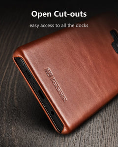 Genuine Leather Flip Cover for Samsung Galaxy Phones