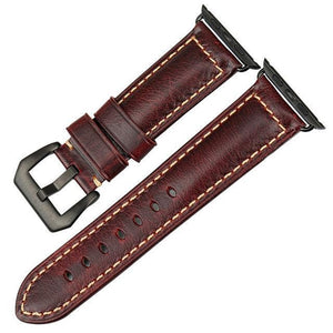 Timeless Classic Genuine Leather Strap for Apple Watch