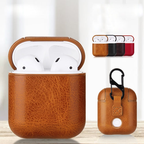 Elagoe - Premium Genuine Leather Case For Apple Airpods