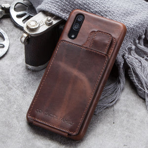Vertical Magnetic Flip Leather Case For Huawei P20