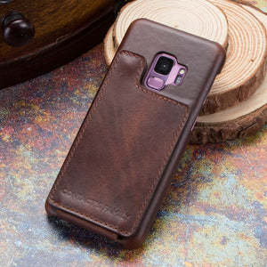 Vertical Magnetic Flip Leather Case For Galaxy S9