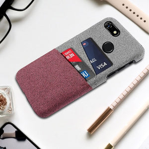 Fabrice - Retro Cloth Case with Cards Holder For Google Pixel